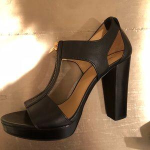 Michael Kors Black Strappy Heels Size 7